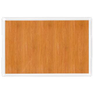 こはく色のタケ木製の穀物の一見 アクリルトレー