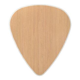 こはく色のタケ木製の穀物の一見 アセタール ギターピック