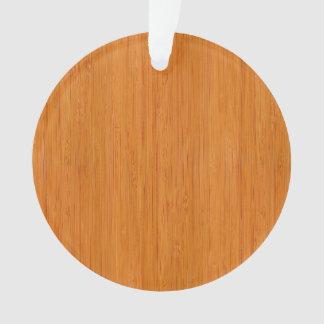 こはく色のタケ木製の穀物の一見 オーナメント
