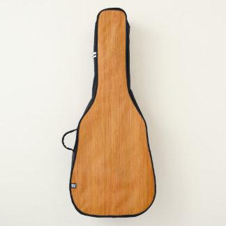 こはく色のタケ木製の穀物の一見 ギターケース