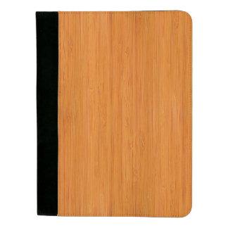 こはく色のタケ木製の穀物の一見 パッドフォリオ