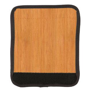 こはく色のタケ木製の穀物の一見 ラゲッジ ハンドルラップ