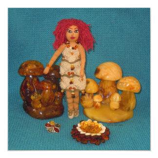こはく色の妖精の国の人形 カード