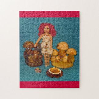 こはく色の妖精の国の人形 ジグソーパズル