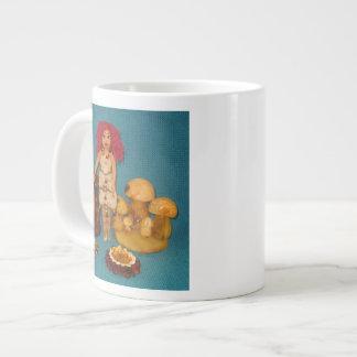 こはく色の妖精の国の人形 ジャンボコーヒーマグカップ