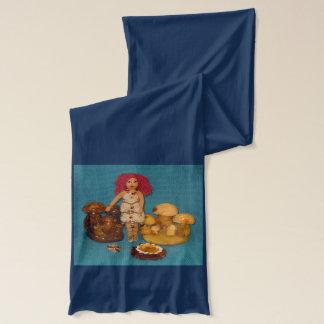こはく色の妖精の国の人形 スカーフ