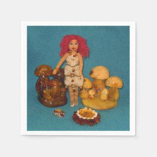 こはく色の妖精の国の人形 スタンダードカクテルナプキン