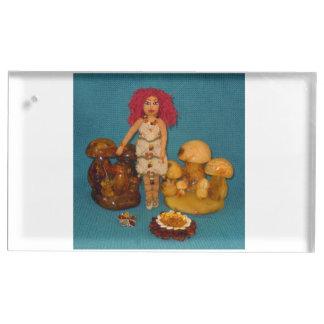こはく色の妖精の国の人形 テーブルカードホルダー
