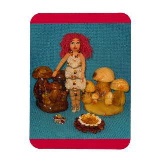 こはく色の妖精の国の人形 マグネット