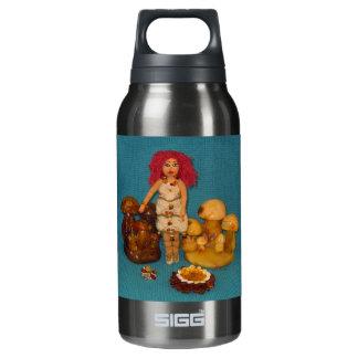こはく色の妖精の国の人形 断熱ウォーターボトル