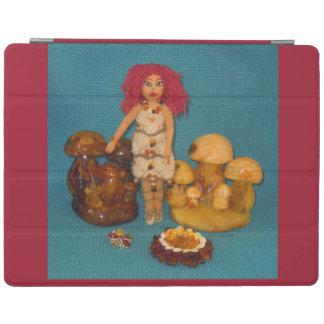 こはく色の妖精の国の人形 iPadスマートカバー