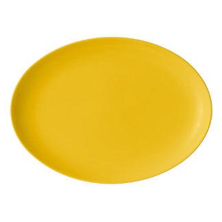 こはく色の無地はそれをカスタマイズ 磁器大皿