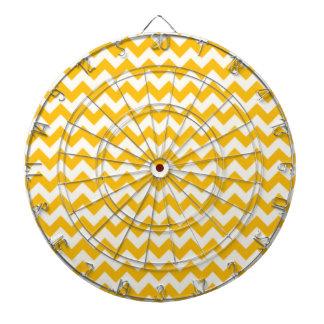 こはく色の黄色いシェブロン; ジグザグ形 ダーツボード