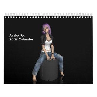 こはく色G. 2008のカレンダー カレンダー