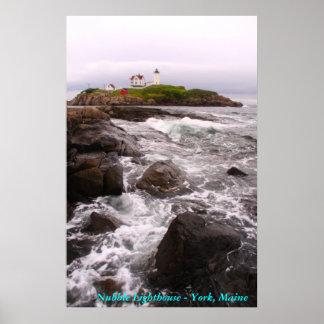 こぶの灯台-ヨーク、メイン ポスター