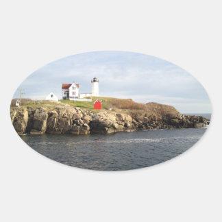 こぶ軽い岬のNeddickのステッカー 楕円形シール