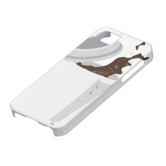 こぼされたコーヒーiPhone 5の箱 iPhone SE/5/5s ケース