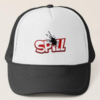 こぼれのロゴの帽子 キャップ