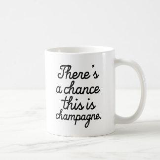 これがシャンペンのおもしろマグカップのチャンスがあります コーヒーマグカップ