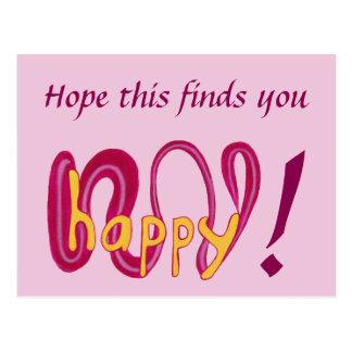 これが幸せあなたの文字の郵便はがき見つけることを望んで下さい ポストカード