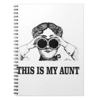 これはええ私の叔母さんです ノートブック