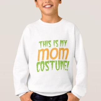 これはお母さんのハロウィンの私のおもしろいな衣裳です スウェットシャツ