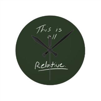これはすべての相対的な時計です ラウンド壁時計