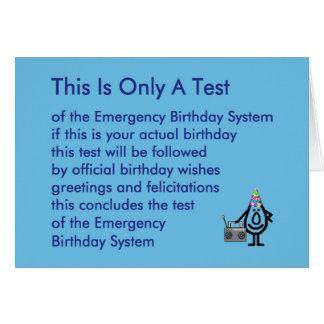 これはただのテスト-おもしろいな誕生日の詩です カード
