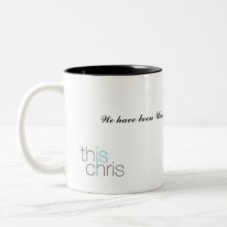 これはですクリス、ずっと私達です不成功….、… ツートーンマグカップ