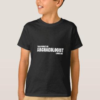"""""""これはなんと考古学者""""子供Tのように見えるかです Tシャツ"""