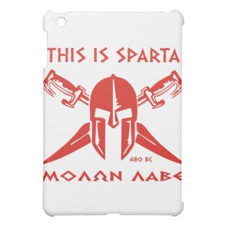 これはスパルタ- Molon Lave -赤です iPad Miniカバー