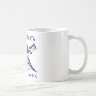これはスパルタ- Molon Lave -青です コーヒーマグカップ