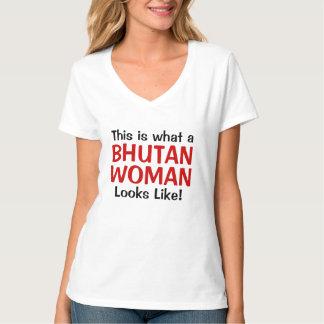 これはブータンのなんと女性のように見えるかです Tシャツ