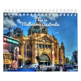 これはメルボルンオーストラリアのカレンダーです カレンダー