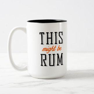 これはラム酒であるかもしれません ツートーンマグカップ