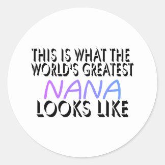 これは世界ですばらしいナナ(2)何です ラウンドシール