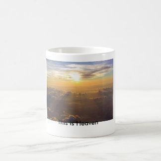 これは天国です コーヒーマグカップ