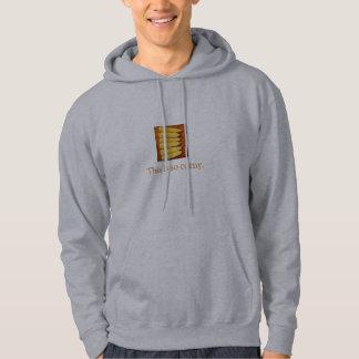 これは時代遅れのフード付きスウェットシャツです パーカ