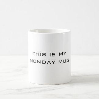 これは月曜日の私のマグです コーヒーマグカップ