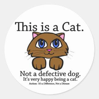 これは猫のステッカーです ラウンドシール