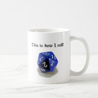 これは私がいかに転がるかです(d20) コーヒーマグカップ