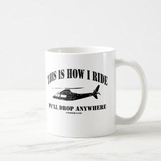 これは私が沿岸警備隊のチョッパーにいかに乗るかです コーヒーマグカップ