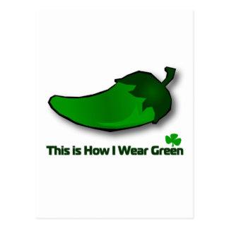 これは私が緑をいかに身に着けているかです ポストカード
