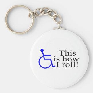 これは私が車椅子をいかに転がるかです キーホルダー
