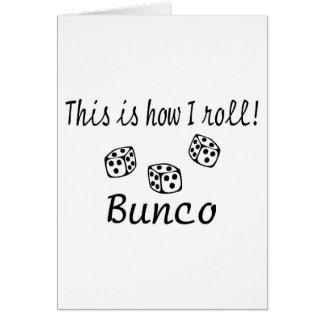 これは私がBuncoをいかに転がるかです カード