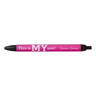 これは私のペンのユニークで、おもしろいなオフィスのギフトのピンクです 黒ボールペン