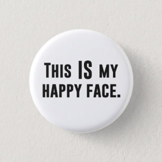 これは私の幸せな顔です 缶バッジ