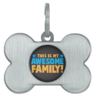 これは私の素晴らしい家族です! ペットネームタグ