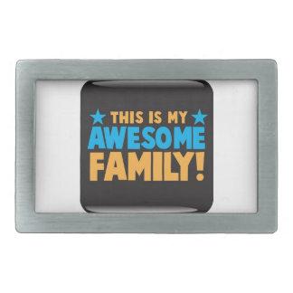 これは私の素晴らしい家族です! 長方形ベルトバックル