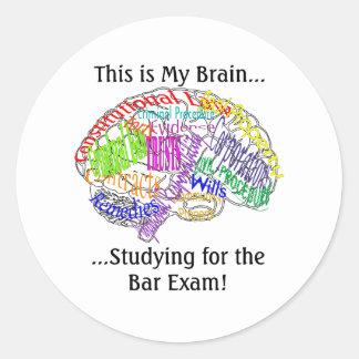 これは私の頭脳の…司法試験です ラウンドシール